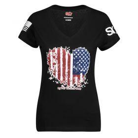 707 GRATITUDE TS. HEART FLAG WOMEN'S